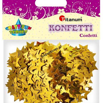 Konfetti Titanum Craft-Fun Series Gwiazdki złote