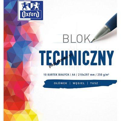 Blok techniczny Oxford A4 250g 10k (400093199)