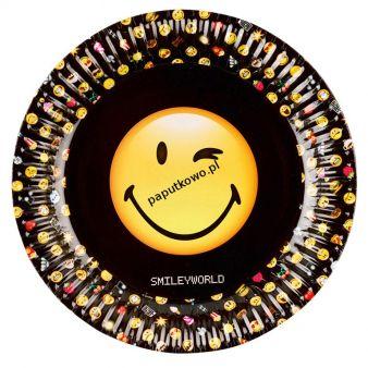 Talerz jednorazowy Amscan uśmiechnięte emotikonki śr. 230 mm (9901287)