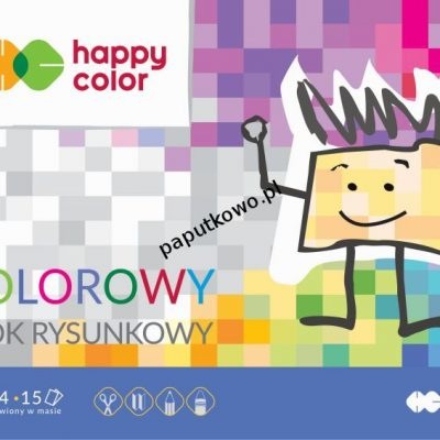 Blok rysunkowy Happy Color Premium A4 mix 80g 15k 210 mm x 297 mm (HA37082030-09)
