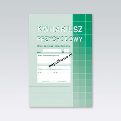 Druk samokopiujący Michalczyk i Prokop Kwitariusz przychodowy A5,oryg.+ 2 kopie A5 60k. (400-3)