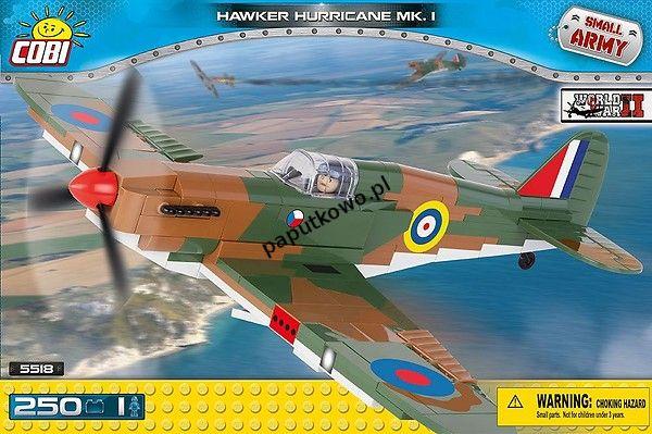 Klocki plastikowe Cobi Small Army Myśliwiec Hawker Hurricane Mk I (5518)