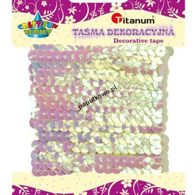 Cekiny Titanum Craft-fun sznurek z cekinów Craft-fun (kremowy)