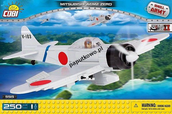 Klocki plastikowe Cobi Small Army Myśliwiec Mitsubishi A6M2 Zero (5515)