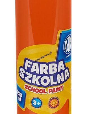 Farby plakatowe Astra szkolne kolor: pomarańczowy 250 ml 1 kol.