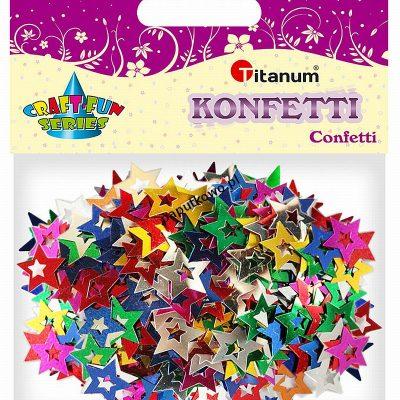 Konfetti Titanum Craft-Fun Series Gwiazdki mix kolorów