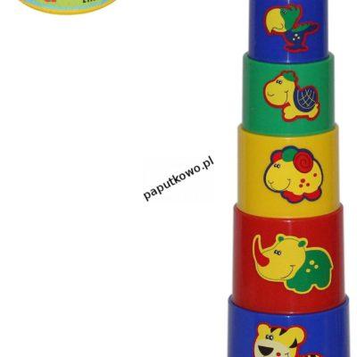 Zabawka edukacyjna Wader ciekawa piramidka nr 3 9 elementów w siatce (52582)