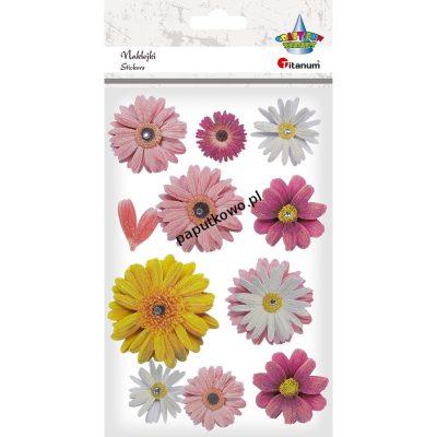 Naklejka (nalepka) Titanum Craft-fun Craft-Fun Series papierowe 3D kwiatki (1171-10)