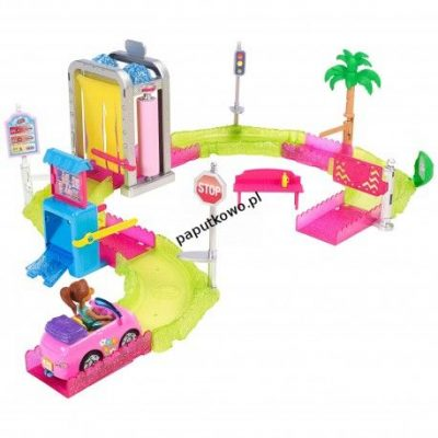 Lalka Barbie on the go myjnia samochodowa (fhv91)