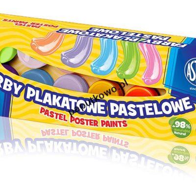 Farby plakatowe Astra pastelowe kolor: mix 12 kol. (30118001)
