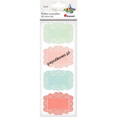 Etykieta samoprzylepna Titanum Craft-fun Craft-Fun Series etykiety dekoracyjne kolor: mix (18058)