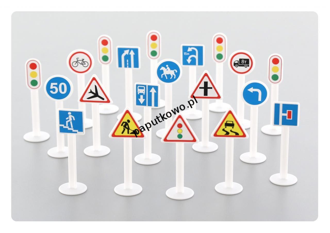 Zabawka edukacyjna Wader zestaw znaków drogowych 20 elementów