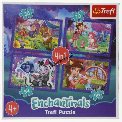 Puzzle Trefl Enchantimals zabawa z pupilami 4W1 4w1 el. (34305)