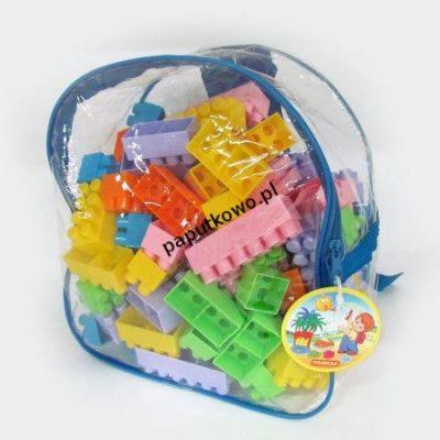 Klocki plastikowe Wader 100 elementy w plecaku (3314)