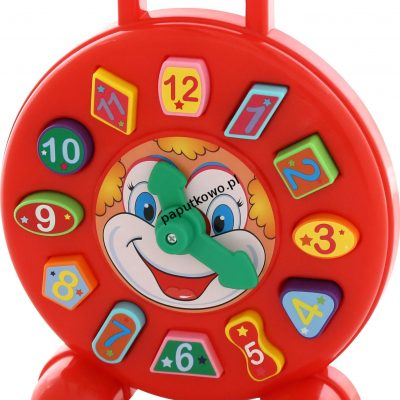 Zabawka edukacyjna Wader zegar klaun (62741)