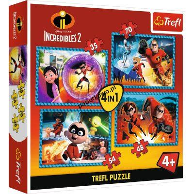 Puzzle Trefl Niesamowita Rodzinka 4w1 (34306)