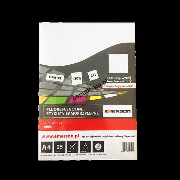 Etykieta samoprzylepna Emerson etykiety A4 - biały (ETOKBIA001x025x010)