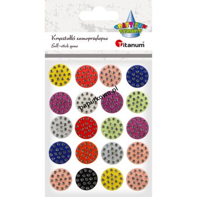 Kryształki Titanum Craft-fun Craft-Fun Series naklejka kryształki mix 20 szt (185052)