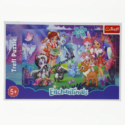 Puzzle Trefl Mattel Enchantimals Zabawa z przyjaciółmi 100 el. (16348)
