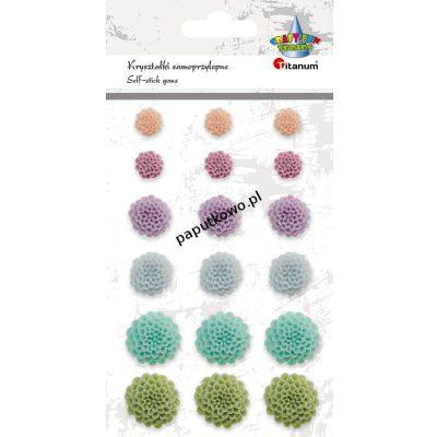 Kwiat Titanum Craft-fun Craft-Fun Series samoprzylepny z żywicy 18 szt (11171-2)