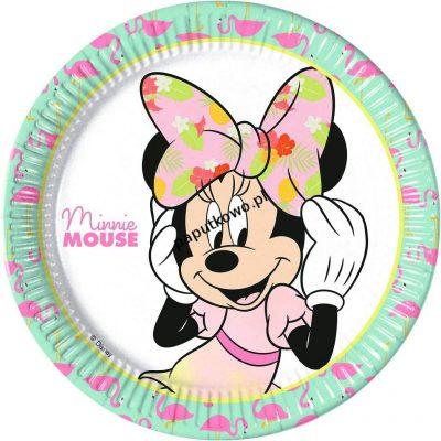 Talerz jednorazowy Godan Minnie Tropical Disney śr. 200 mm (89231)