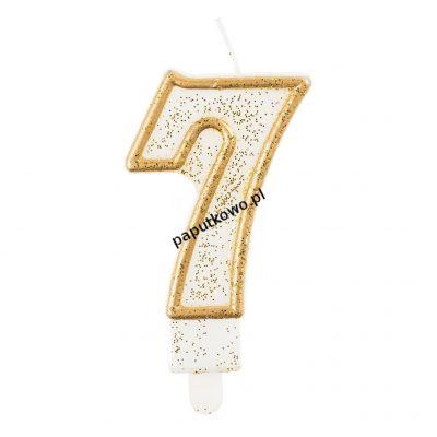 Świeczka urodzinowa Godan cyferka złota 7 (pf-sczk7)
