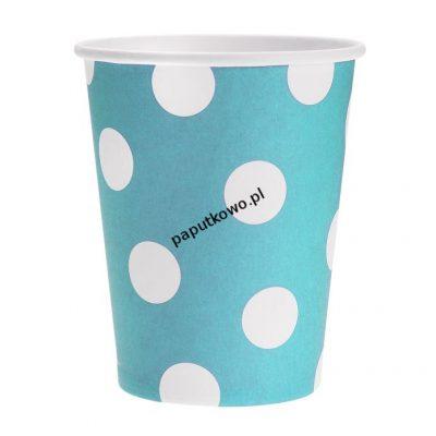 Kubek jednorazowy groszki błękitne 270 ml (pf-kgbl)