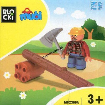 Klocki plastikowe Icom KLOCKI BLOCKI MUBI FIGURKA DRWAL (MU2366A)