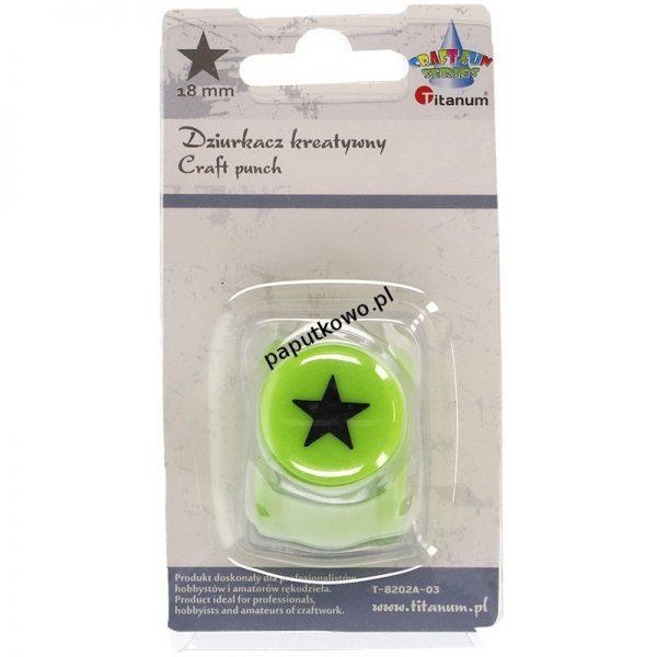 Dziurkacz Titanum Craft-fun Craft-Fun Series kreatywny 18mm gwiazda pełna zielony jasny 1k (T-8202A-03)