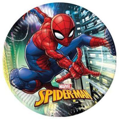 Talerz jednorazowy Spiderman śr. 230 mm (89445)