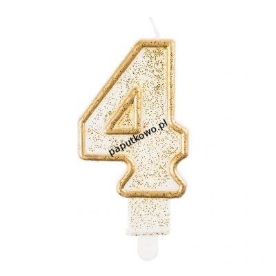 Świeczka urodzinowa Godan cyferka złota 4 (pf-sczk4)