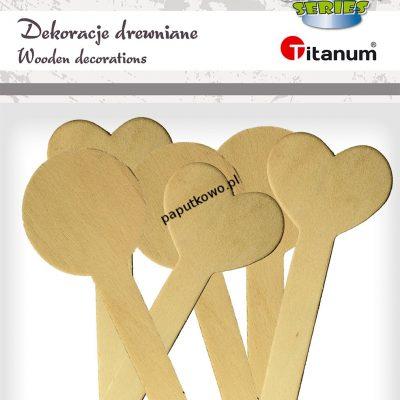 Ozdoba drewniana Titanum Craft-fun Craft-Fun Series patyczki z dekoracją naturalna 6 szt (17504B)