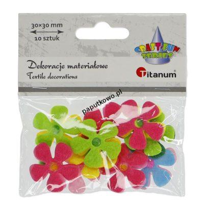 Ozdoba filcowa Titanum Craft-fun Craft-Fun Series kwiatki mix 10 szt (BY343)