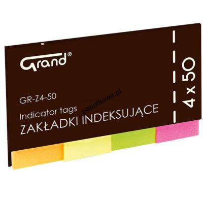 Zakładka indeksująca Grand Flagi różne 200k 50 mm x 20 mm (GR-Z4-50)