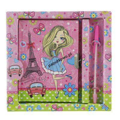 Pamiętnik Kw Office dziewczynki z długopisem (902791)