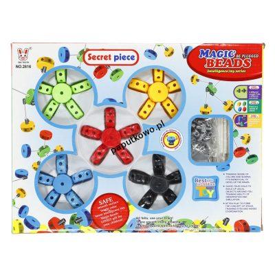 Zabawka edukacyjna Hipo kółka do składania 30 el (H11851)